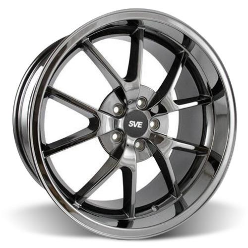 Mustang FR500 Wheel Kit - 20x8.5/10 Black Chrome (05-16)