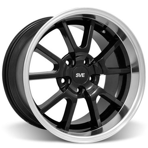 Mustang FR500 Wheel Kit - 20x8.5/10 Black w/ Mirror Lip (05-15) - Mustang FR500 Wheel Kit - 20x8.5/10 Black w/ Mirror Lip (05-15)
