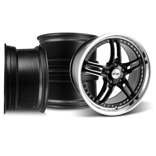 Mustang SVE Series 2 Wheel Kit - 19x9 Black w/ Machined Lip (05-14)