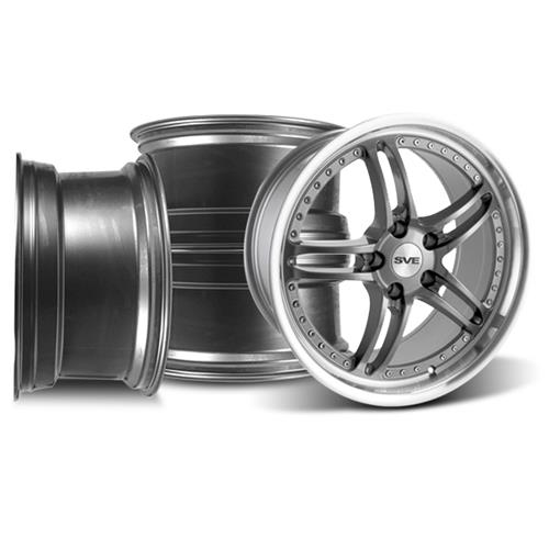 SVE Mustang Series 2 Wheel Kit - 19x9 Gun Metal w/ Polished Lip (05-14) - SVE Mustang Series 2 Wheel Kit - 19x9 Gun Metal w/ Polished Lip (05-14)