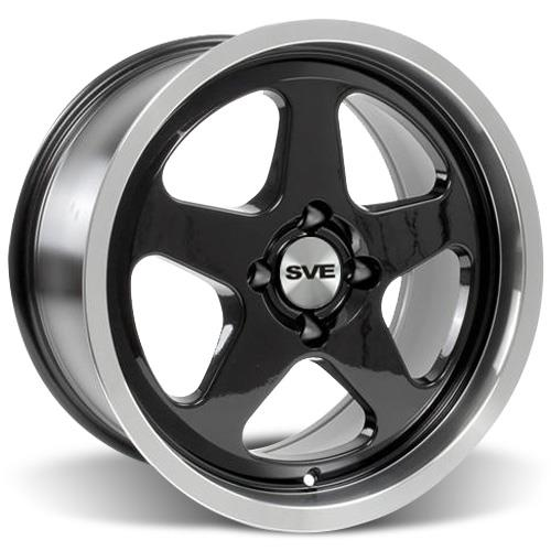 Mustang SC Wheel Kit - 18x8.5 Black w/ Mirror Lip (79-93)