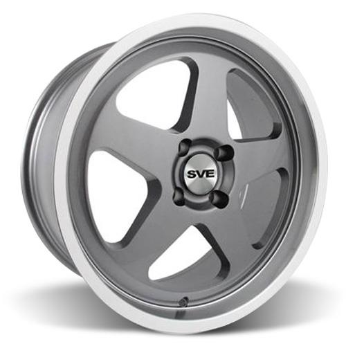 Mustang SC Wheel Kit - 18x8.5 Gunmetal w/ Mirror Lip (79-93)