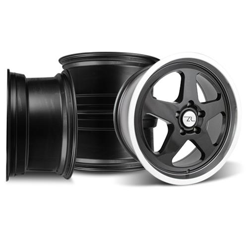 Mustang SVE Saleen SC Wheel Kit - 18x8.5  - Black w/ Mirror Lip (94-04)