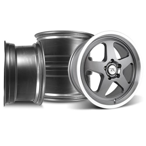 Mustang SVE Saleen SC Wheel Kit - 18x8.5  - Gun Metal w/ Mirror Lip (94-04)