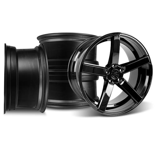 Mustang DF5 Wheel Kit - 20x8.5/10 Piano Black (05-16)