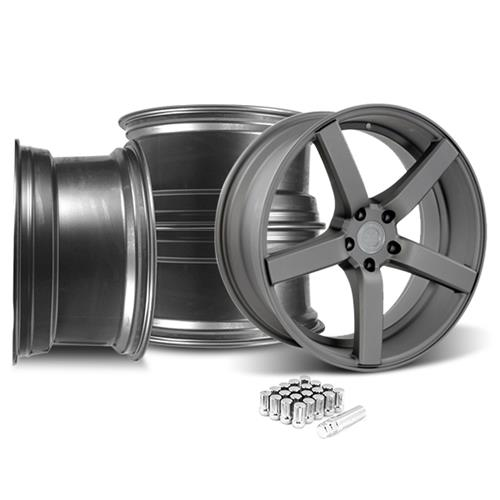 Mustang DF5 Wheel & Lug Nut Kit - 20x8.5 Matte Gunmetal (15-16)