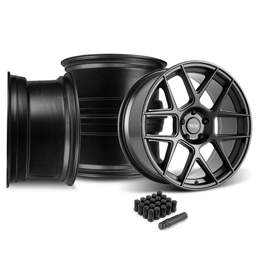 American Racing Mustang Apex Wheel Kit - 20x8.5/10  - Satin Black (05-14)