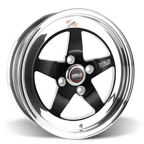Weld Mustang RT-S Wheel Kit - 15x4/15x8 Black (79-93)