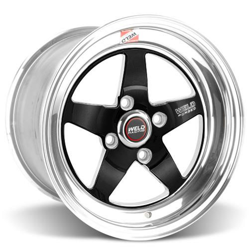 Weld Mustang RT-S Wheel Kit - 15x4/15x10 Black (79-93)