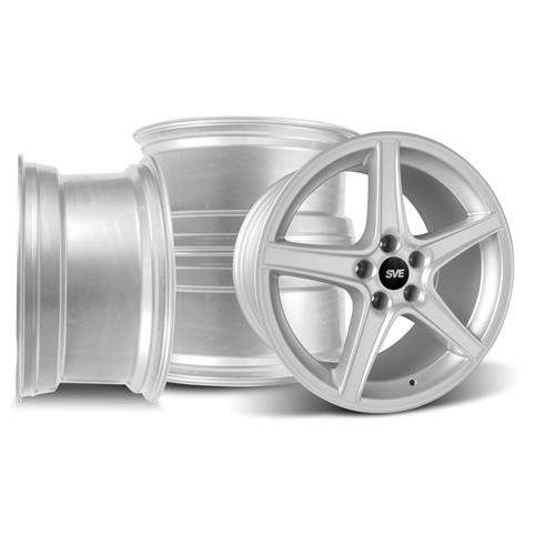 Mustang Saleen Wheel Kit - 18x9/10 Silver (94-04)