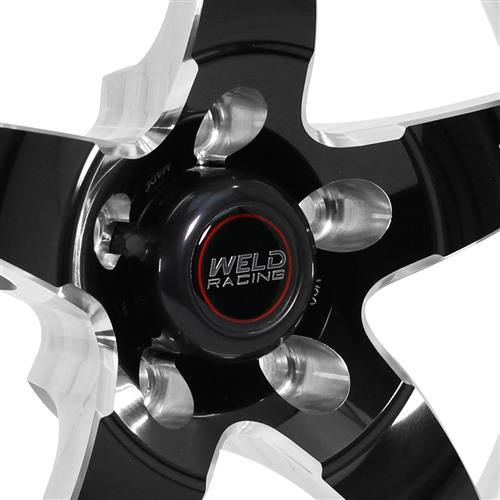 Weld Mustang RT-S S71 Drag Wheel - 17x5 Black w/ Polished Lip (94-18) 71HB7050A22A