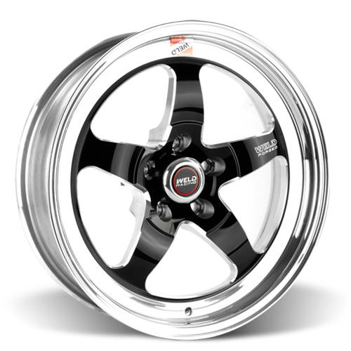 Weld Mustang RT-S S71 Drag Wheel - 17x5 Black w/ Polished Lip (94-17) 71HB7050A22A