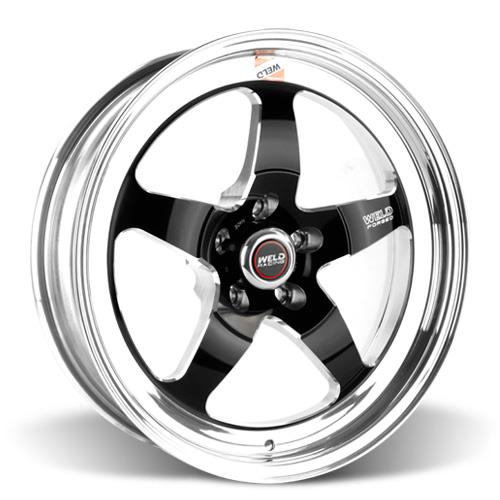 Weld Mustang RT-S S71 Drag Wheel - 18x5 Black w/ Polished Lip (05-17) 71HB8050A21A