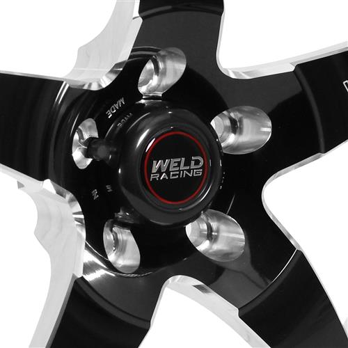 Weld Mustang RT-S S71 Drag Wheel - 18x5  - Black w/ Polished Lip (05-18) 71HB8050A21A