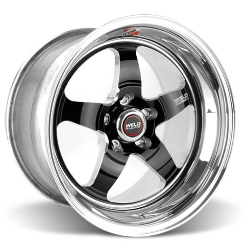 Weld Mustang RT-S S71 Drag Wheel - 17x10 Black w/ Polished Lip (05-17) 71LB7100A80A