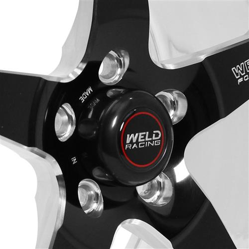Weld Mustang RT-S S71 Drag Wheel - 17x10 Black w/ Polished Lip (05-18) 71LB7100A80A