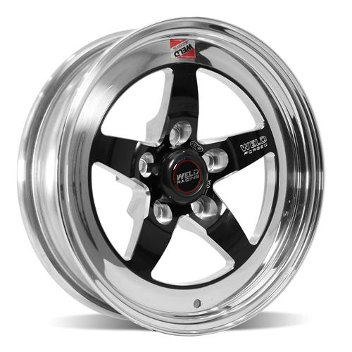 Weld Mustang RT-S S71 Drag Wheel - 15x4 Black w/ Polished Lip (94-10) 71MB-504A15A