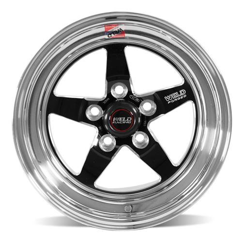Weld Mustang RT-S S71 Drag Wheel - 15x10 Black w/ Polished Lip (94-04) 71MB-510A65A