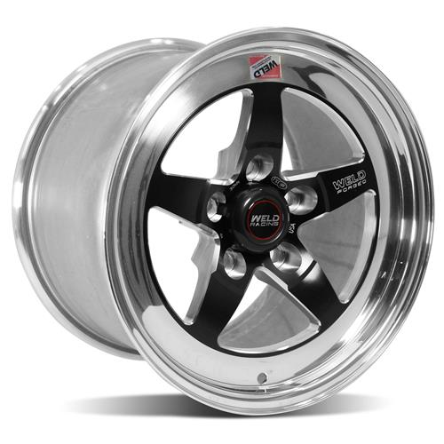 Weld Mustang RT-S S71 Drag Wheel - 15x10 Black w/ Polished Lip (05-14) 71MB-510A75A