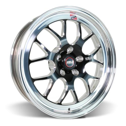 Weld Mustang RT-S S77 Wheel - 18x5  - Black w/ Polished Lip (05-20) 77HB8050A21