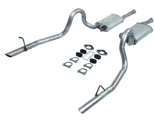 Mustang Direct Fit Dual Cat Back Exhaust Kit Exc. 87-88 GT (86-88)