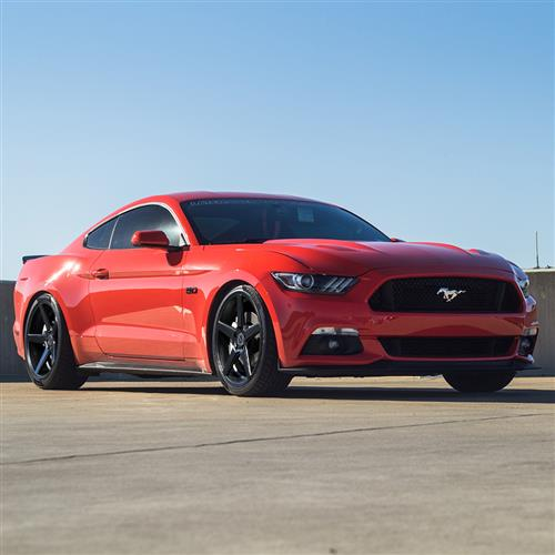 KMC Mustang 685 District Wheel & Tire Kit - 20x8.5/10.5 Satin Black (15-16) Nitto NT555