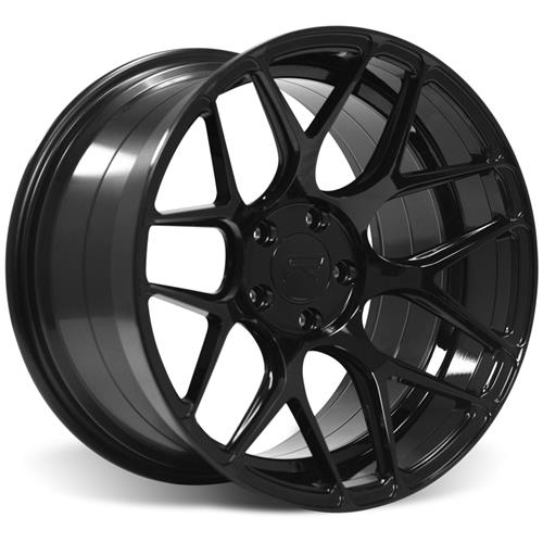 Rovos Mustang Pretoria Wheel Kit 18X9/10.5 W/ NT555 Tires Gloss Black (94-04)