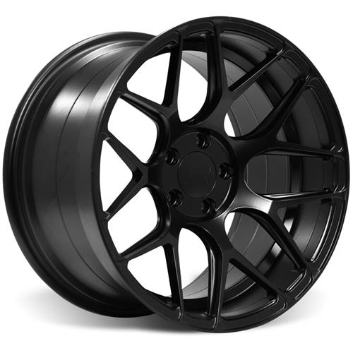 Rovos Mustang Pretoria Wheel Kit 18X9/10.5 W/ Nitto NT05 Tires Satin Black (94-04)