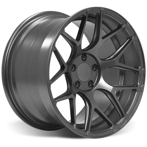 Rovos Mustang Pretoria Wheel Kit 18X9/10.5 W/ NT05 Tires Satin Gunmetal (94-04)