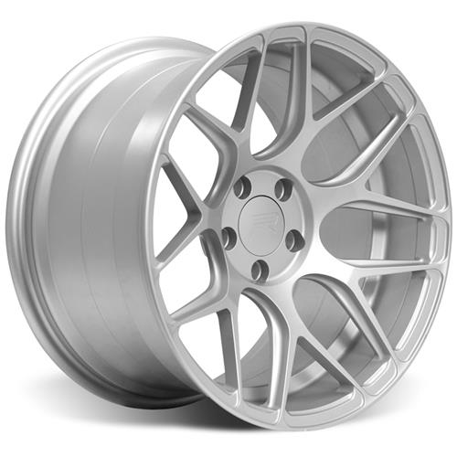 Rovos Mustang Pretoria Wheel Kit 18X9/10.5 W/ NT05 Tires Satin Silver (94-04)