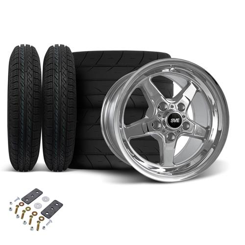 SVE Mustang Drag Wheel & Tire Kit 15X10/15X3.75 Chrome  (05-10) - SVE Mustang Drag Wheel & Tire Kit 15X10/15X3.75 Chrome  (05-10)