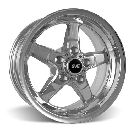 SVE Mustang Drag Wheel & Tire Kit 15X10/15X3.75 Chrome  (94-04)