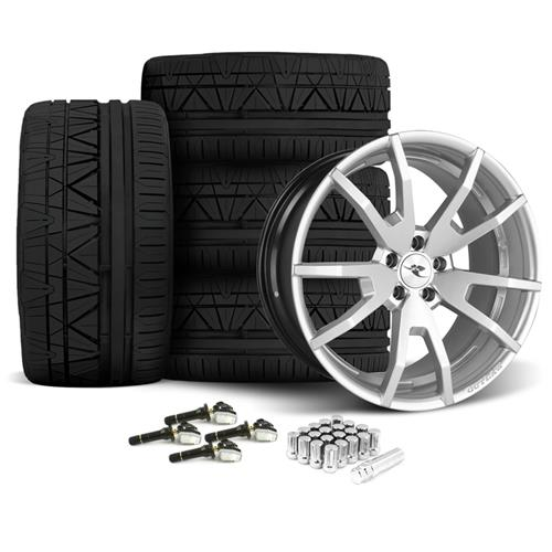 CDC Mustang Outlaw 20X9/10 Wheel & Nitto Invo Tire Kit  Silver (15-16) - CDC Mustang Outlaw 20X9/10 Wheel & Nitto Invo Tire Kit  Silver (15-16)