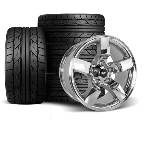 "F-150 SVT Lightning Wheel & Tire Kit - 18x9.5""  - Chrome - NT555 G2 Tires (99-04)"