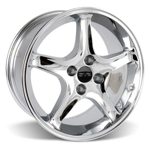 Mustang Cobra R Wheel & Tire Kit - 17x9 Chrome (87-93) Nitto NT555