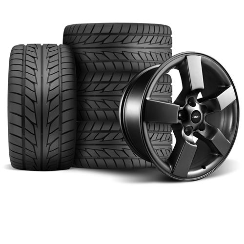 "F-150 SVT Lightning Wheel & Tire Kit - 18x9.5"" Matte Black (99-04) Nitto NT555"