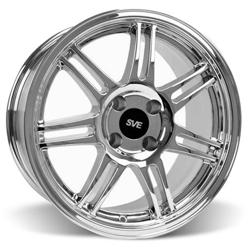 SVE Mustang Anniversary Wheel & Tire Kit - 17x9/10  - Chrome - Sumitomo ZII (79-93)