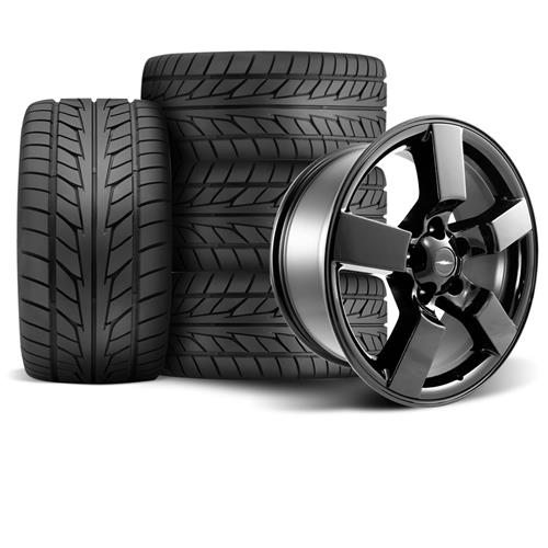 "F-150 SVT Lightning Wheel & Tire Kit - 18x9.5"" Gloss Black (99-04) Nitto NT555"