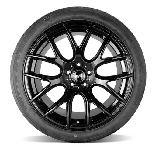 SVE Mustang Drift Wheel & Tire Kit - 19x9.5  - Gloss Black - NT555 Tires (15-17)