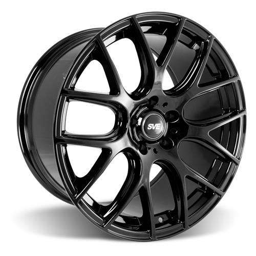 SVE Mustang Drift Wheel & Tire Kit - 19x9.5  - Gloss Black - Ohtsu Tires (15-17)