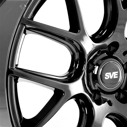 SVE Mustang Drift Wheel & Tire Kit - 19x9.5  - Gloss Black - Achilles Tires (15-17)