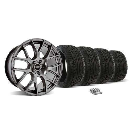 SVE Mustang Drift Wheel &Tire Kit - 18X9 Dark Stainless (05-14) Ohtsu