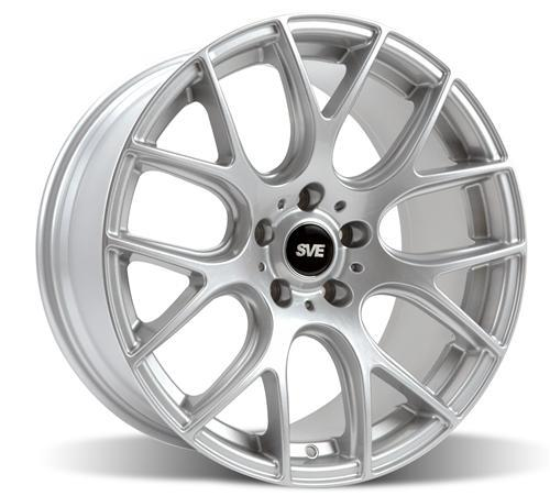 SVE Mustang Drift Wheel & Tire Kit - 18X9/10 Silver (94-04) Staggered Nitto NT555