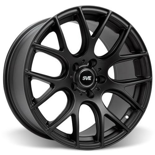 SVE Mustang Drift Wheel & Tire Kit - 18X9/10 Flat Black (05-14) Staggered Nitto NT555 - SVE Mustang Drift Wheel & Tire Kit - 18X9/10 Flat Black (05-14) Staggered Nitto NT555