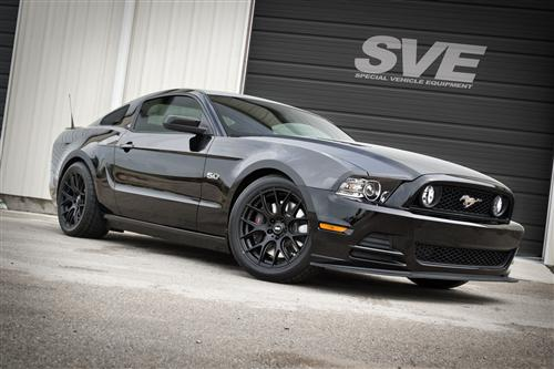 SVE Mustang Drift Wheel & Tire Kit - 18X9/10 Flat Black (05-14) Staggered Nitto NT555 G2