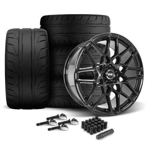 SVE Mustang 2013 GT500 Style Wheel & Tire Kit - 20x8.5/10  - Gloss Black - 275 NT05 Tire (15-17)
