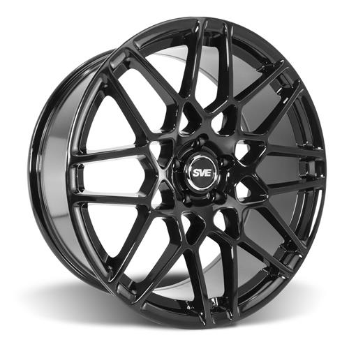 SVE Mustang 2013 GT500 Style Wheel & Tire Kit - 20x8.5/10  - Gloss Black - Ohtsu Tires (15-17)