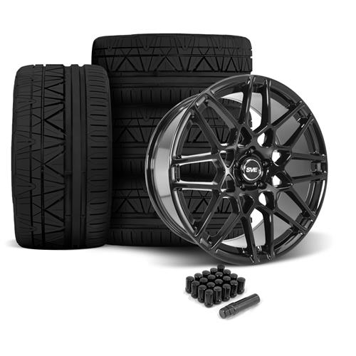 SVE Mustang 2013 GT500 Style Wheel & Tire Kit - 20x8.5/10  - Gloss Black - 295 Invo Tire (05-14)
