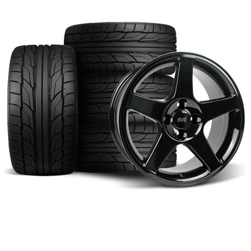 Mustang 03 Cobra Wheel & Tire Kit - 17x9  - Black - NT555 G2 Tires (79-93)