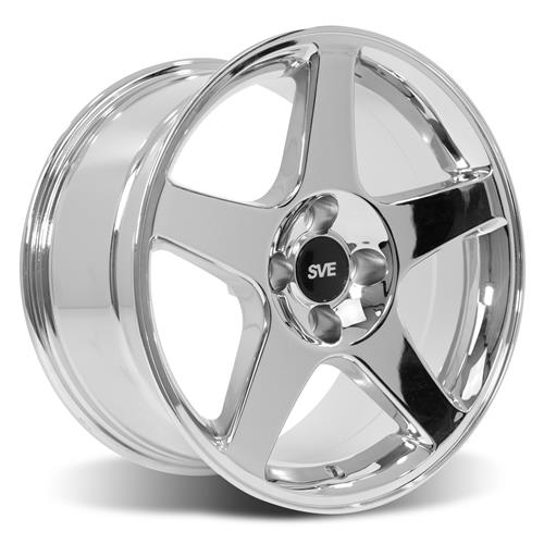 Mustang 03 Cobra Wheel & Tire Kit - 17x9  - Chrome - NT555 G2 Tires (79-93)